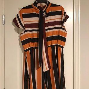 Eloquii Dresses - Multi-colored opposing striped dress